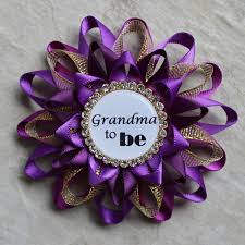purple and gold baby shower