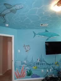 handpainted murals in houston mural artist in houston muralist shark room jpg