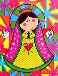 Imagenes De Virgen Maria Infantiles | virgen maria para imprimir hojas y bordes pinterest santos