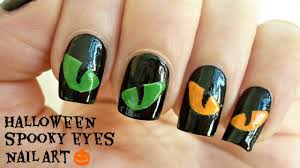 halloween spooky eyes nail art youtube