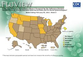 Ohio On Us Map by Cdc Seasonal Influenza Flu Weekly Report Influenza Summary
