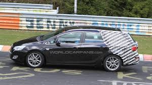 opel christmas 2011 opel astra sports tourer spied on the nurburgring nordschleife