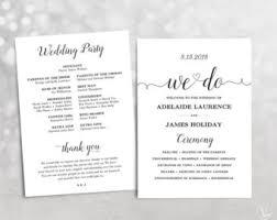 Cheap Wedding Programs Printable Wedding Program Template Greenery Wedding Programs
