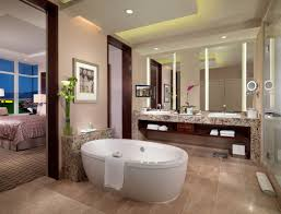 cool picture of nice bathroom design and decoration using led lamp