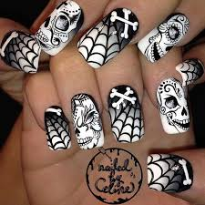 403 best nails skulls images on pinterest skull nail art