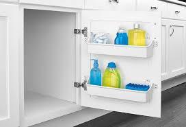 kitchen cabinet door storage racks rev a shelf door storage trays white
