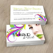 Makeup Business Cards Designs Fully Customizable Cosmetics Business Cards Created By Colourful