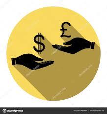 bureau de change livre sterling de change de à dollar et la livre sterling vector