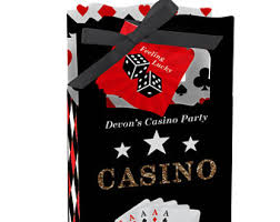 Poker Party Decorations Casino Party Etsy