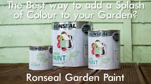 the best way to add a splash of colour to your garden ronseal