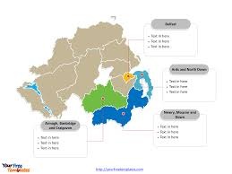 Blank Map Of Ireland by Free Northern Ireland Editable Map Free Powerpoint Templates