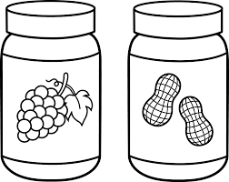 peanut butter and jelly line art free clip art jam jar coloring