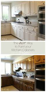 how to paint brown cabinets the best way to paint kitchen cabinets no sanding the