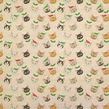 kraft christmas wrapping paper christmas cat faces kraft present gift wrap wrapping