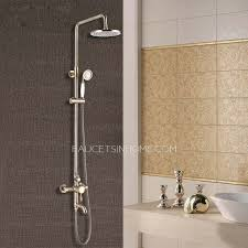 Antique Bronze Bathroom Exposed Top And Hand Shower Faucets Antique Bronze Bathroom Fixtures