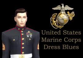 mod the sims united states marine corps blue dress b uniform