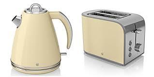 Delonghi Kettle And Toaster Cream Swan Kitchen Appliance Retro Set Cream 1 5l Jug Kettle U0026 Cream