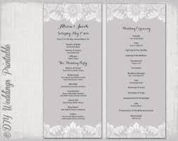 black u0026 white wedding program template damask wedding order of