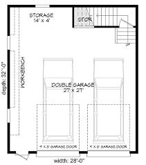 detached garage floor plans 2 car detached garage with man cave above 68456vr architectural
