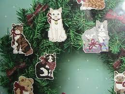 free cat ornament cross stitch kit sunset needlecraft