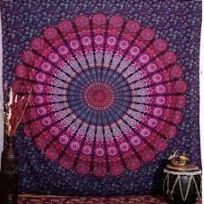 india mandala tapestry hippie wall hang bohemian bedspreads home