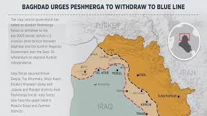 baghdad world map urges peshmerga to withdraw to pre 2003 borders