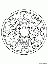 bears mandala sab5a coloring pages printable