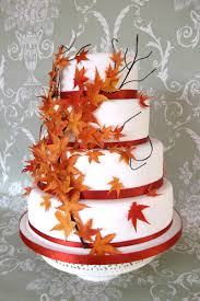 autumn leaves wedding cake wedding ideas for you