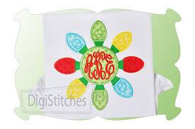 christmas applique christmas lights monogram applique digistitches machine