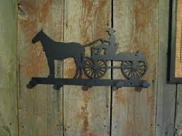 horse and wagon coat rack metal western silhouette cabinhollow