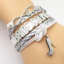 bracelet infinity silver images Infinity love bride squad wedding bracelets blue lion jewels jpg