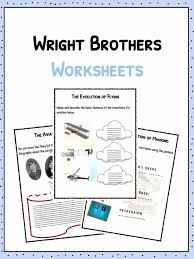 wright brothers worksheets facts u0026 information for kids