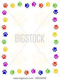 paw prints frame border on white background image cg8p8329692c