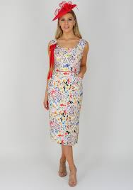 coloured dress caroline kilkenny grace floral dress multi coloured mcelhinneys