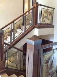 Glass Stair Rail by Crystal Glass Studio Architectural Glass Lighting Giftware