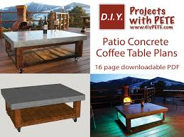 Diy Patio Coffee Table 10 Summer Diy Patio Projects You Can U0027t Go Without Diy Projects