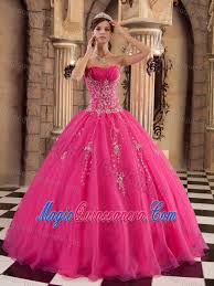 dresses for sweet 15 hot pink strapless beaded organza sweet 15 dresses in farnborough