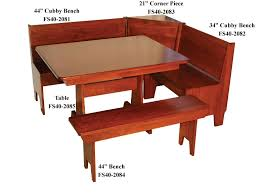 Bench And Table Set Economy Breakfast Nook Set Ohio Hardword U0026 Upholstered Furniture