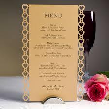 diy wedding menu cards sweethearts laser cut printed wedding menu card each