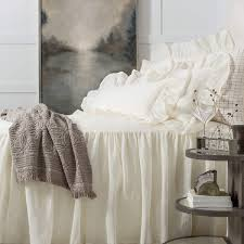 linen mesh ivory bedspread pine cone hill