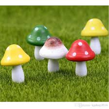 garden decorations colorful mashroom artcraft