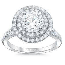 Halo Wedding Rings by Round Baby Split Double Halo Engagement Ring