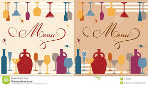 drink menu template free menu template for bar or restaurant stock vector image 32166985