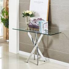 Glass Console Table Glass Console Tables Ebay