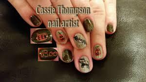 Halloween Nail Art Bats by Cassie Thompson Nail Artist U2013 Ctnailartist