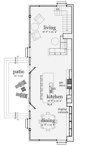 narrow home floor plans narrow modern loft like living 44082td architectural designs
