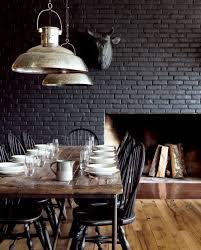 28 ideas for black wall interior styling interior brick walls