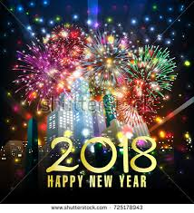 new year s greeting card happy new year 2018 greeting card stock illustration 725178943