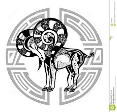 zodiac signs aries design stock vector illustration