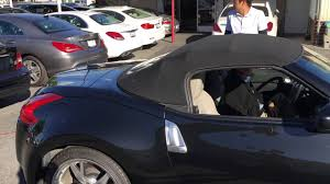 nissan convertible black 2010 nissan 370z convertible top november 4 2015 hd youtube